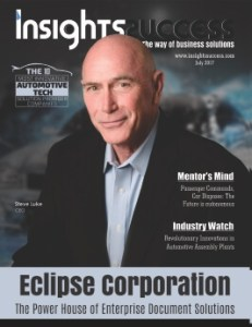 Eclipse Corporation CEO Steve Luke is featured on the August cover of InsightsSuccess magazine.
