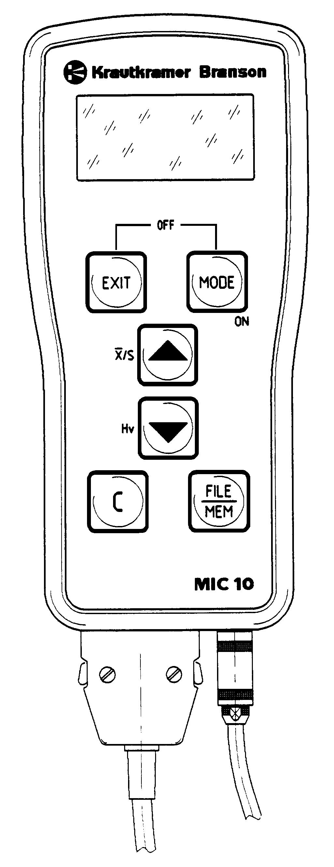 Krautkramer MIC 10. GE Tecnologias de Inspeção. Manual de