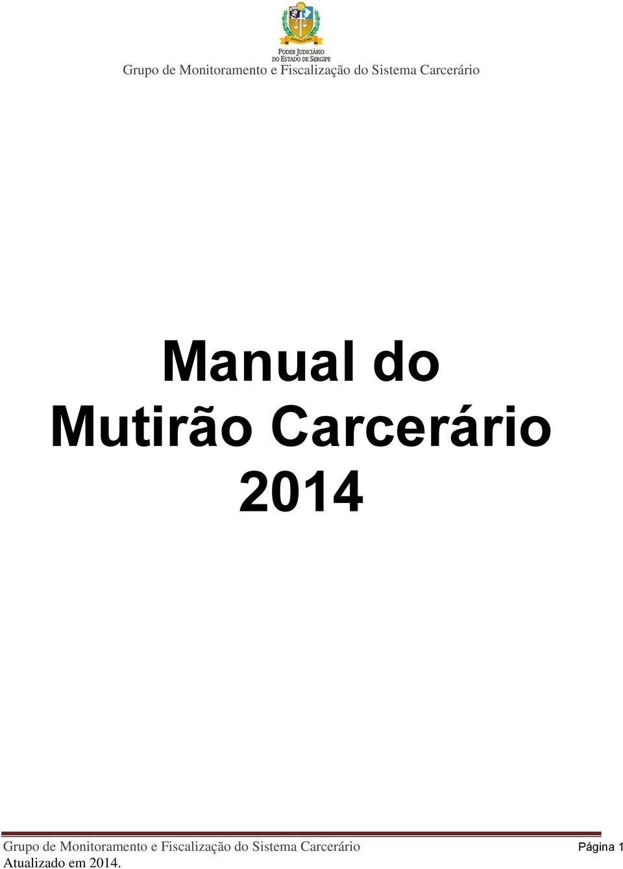 Manual do Mutirão Carcerário PDF