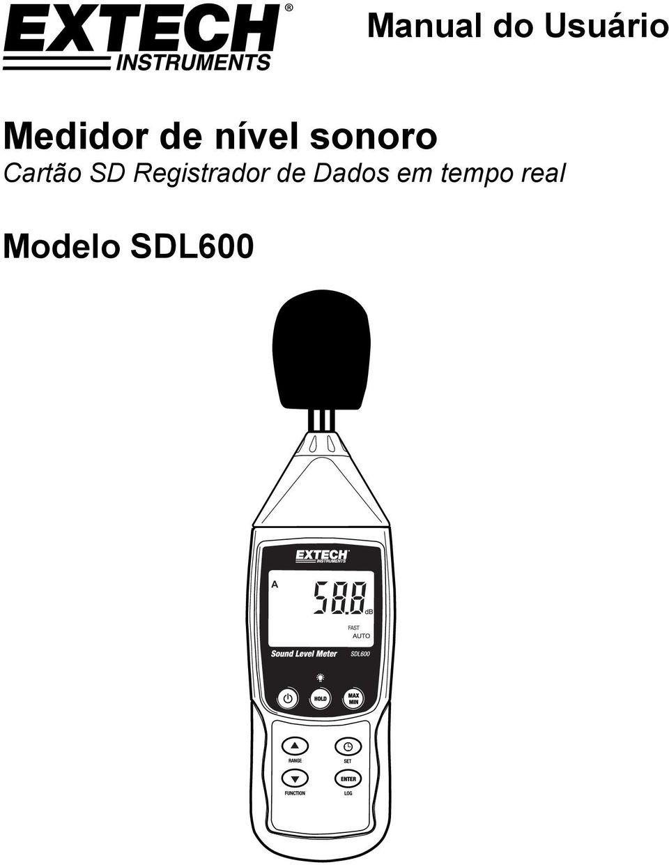 Medidor de nível sonoro Cartão SD Registrador de Dados em