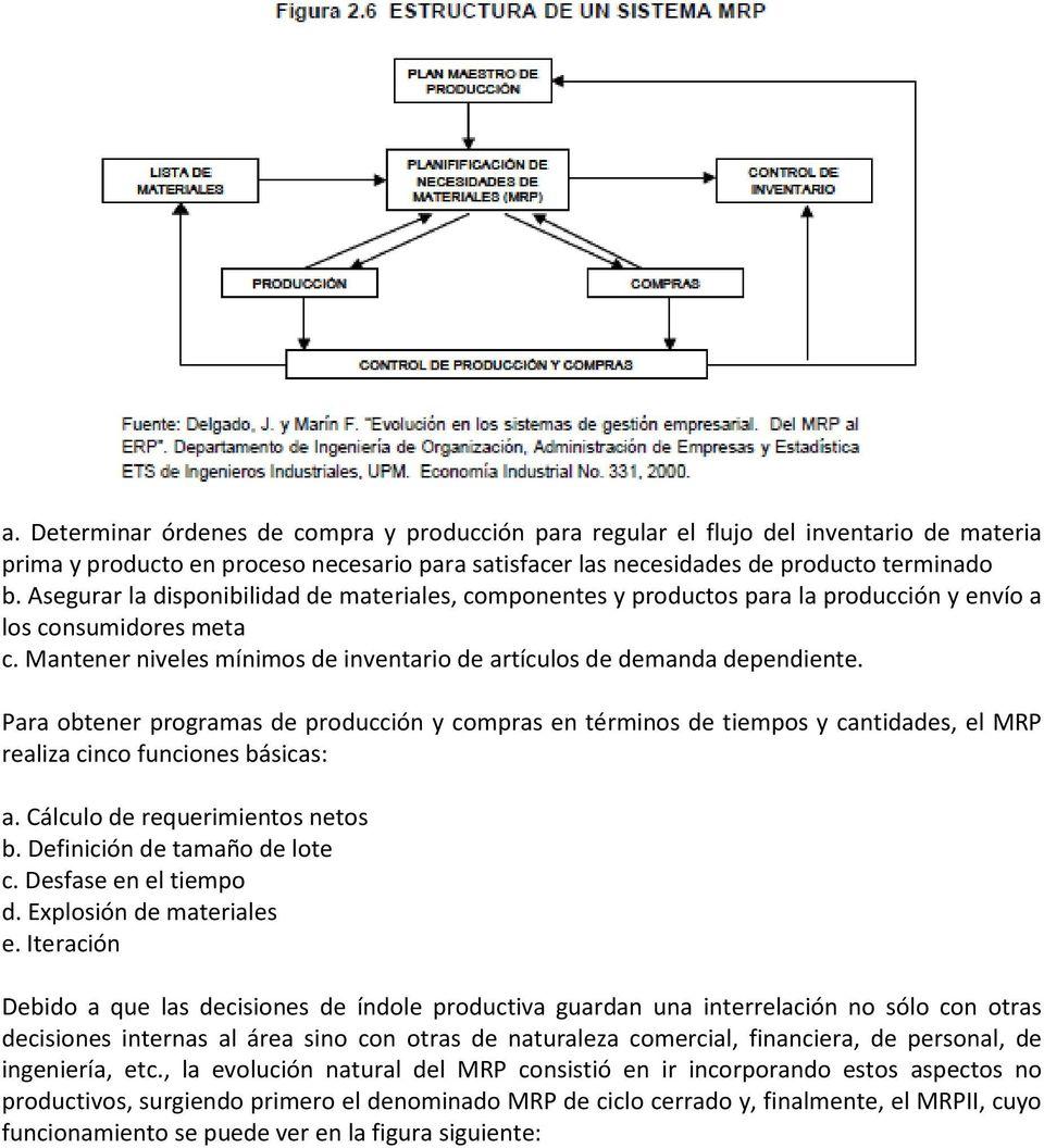 hight resolution of para obtener programas de producci n y compras en t rminos de tiempos y cantidades el mrp