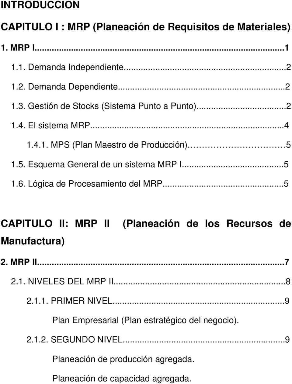 medium resolution of l gica de procesamiento del mrp 5 capitulo ii