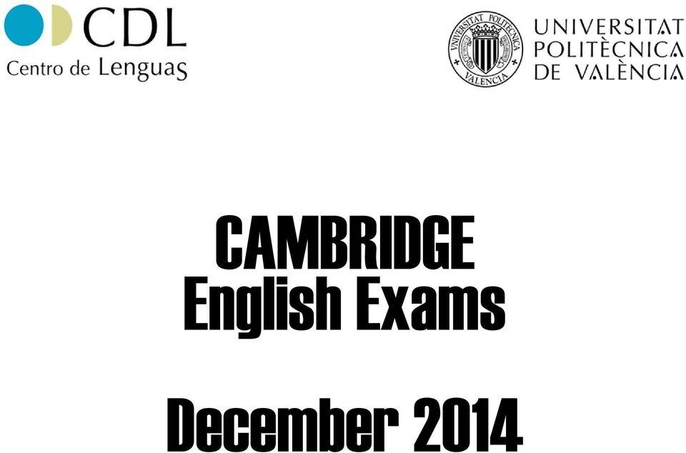 CAMBRIDGE English Exams December PDF
