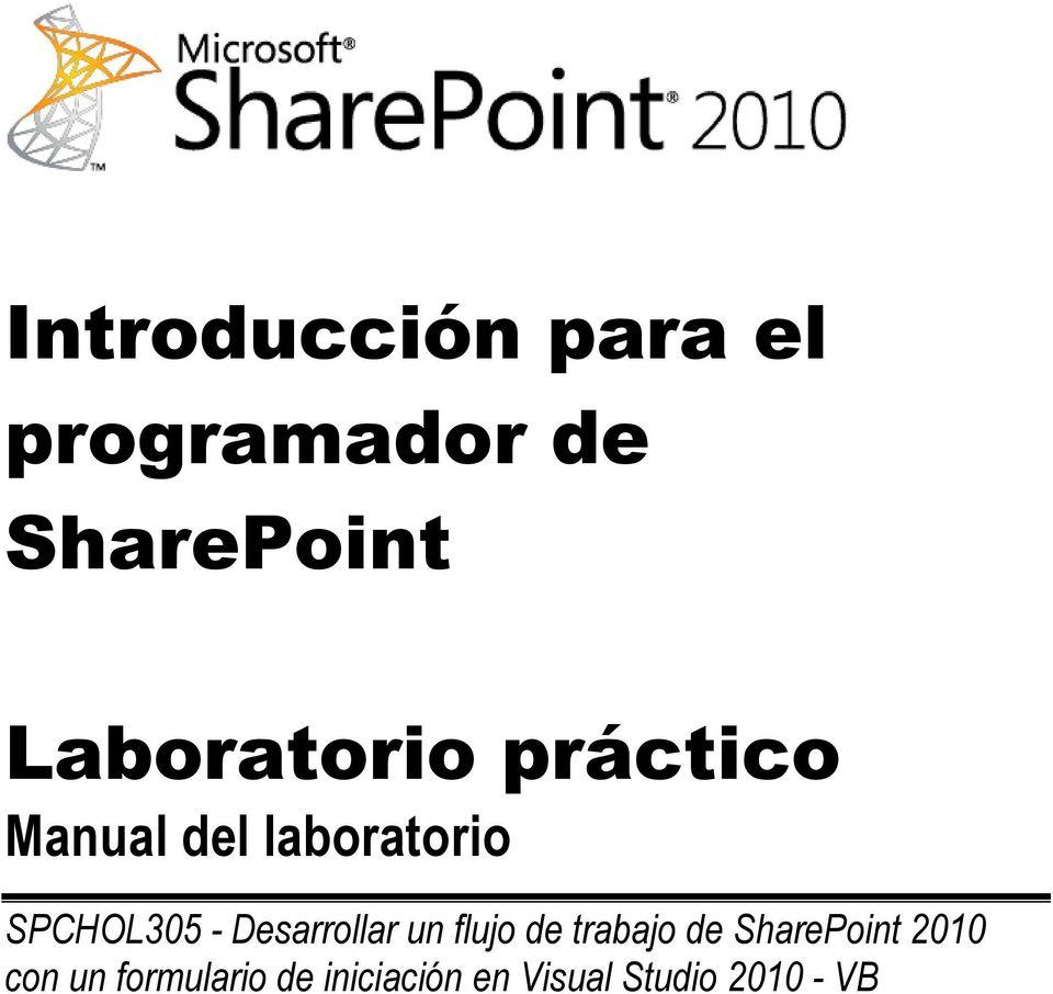 Introducción para el programador de SharePoint