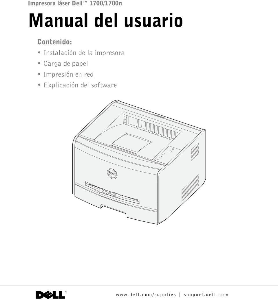Manual del usuario. Contenido: Instalación de la impresora