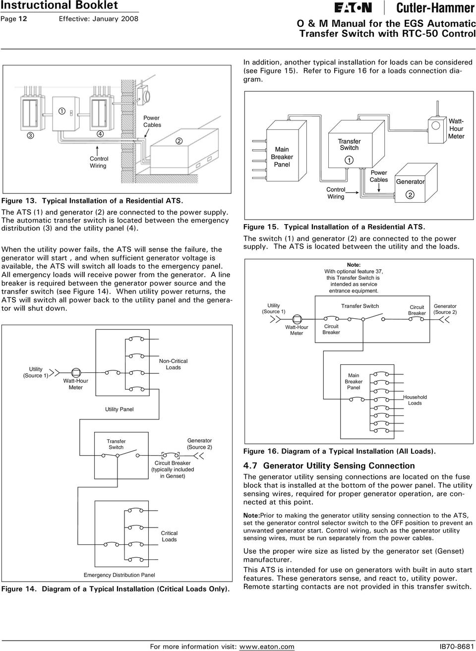 hight resolution of the ats 1 and generator 2 are connected to the power supply 13 o m manual