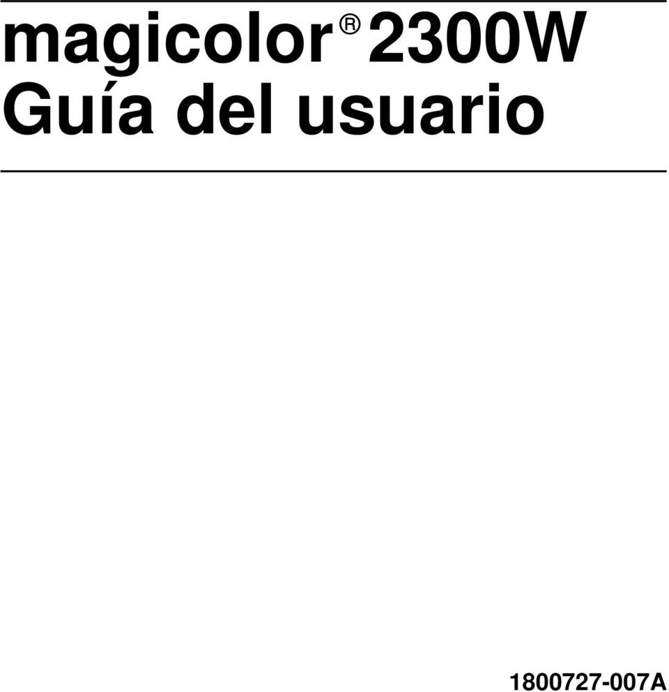 KONICA MINOLTA MAGICOLOR 2300W WINDOWS 7 DRIVER