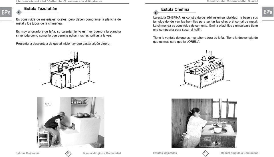 Centro de Desarrollo Rural BP s ESTUFAS MEJORADAS Manual dirigido a Comunidad  PDF