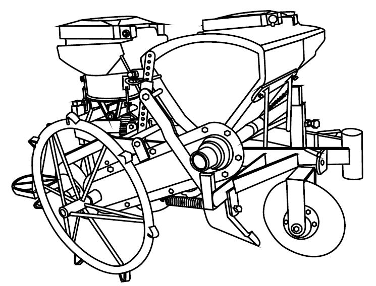 Sembradora de Arrastro para Motocultor / Micro tractor