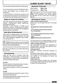 INSTRUCTION BOOK DYH 9913NA1X. Heat Pump Tumble Dryer ...