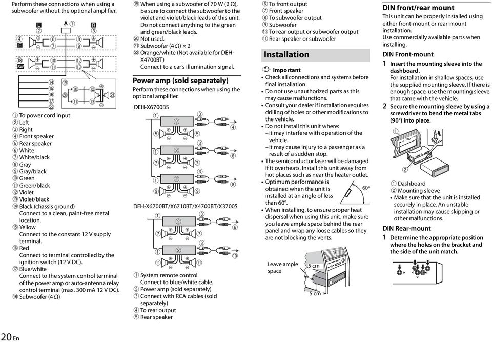 Pioneer Deh X6700Bt Wiring Diagram. Pioneer. Discover Your