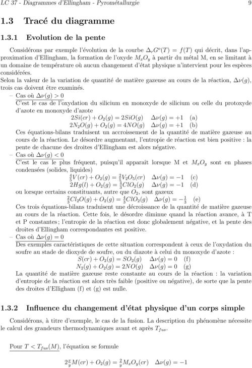small resolution of consid r es selon la valeur de la variation de quantit de mati re gazeuse au cours de