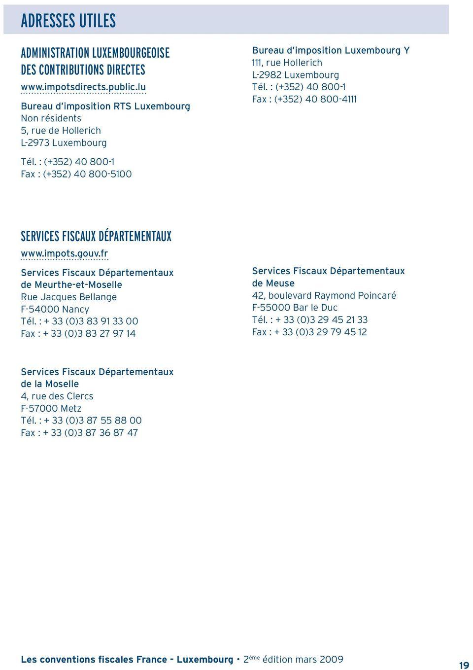 ADRESSES UTILES Amp LISTE DES CONSEILLERS EURES PDF