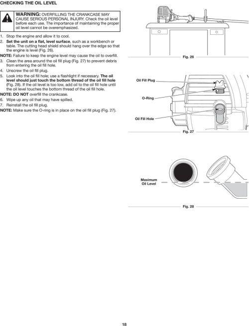small resolution of the cutting head shield should hang over the edge so that the engine is level