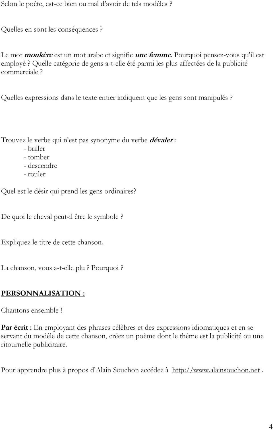 Qui Est La Femme De Alain Souchon ? : femme, alain, souchon, First, Students, Packets., Represents, Pre-listening, Activities, Orally, Board., Téléchargement, Gratuit