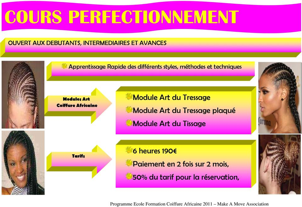 ecole formation coiffure africaine