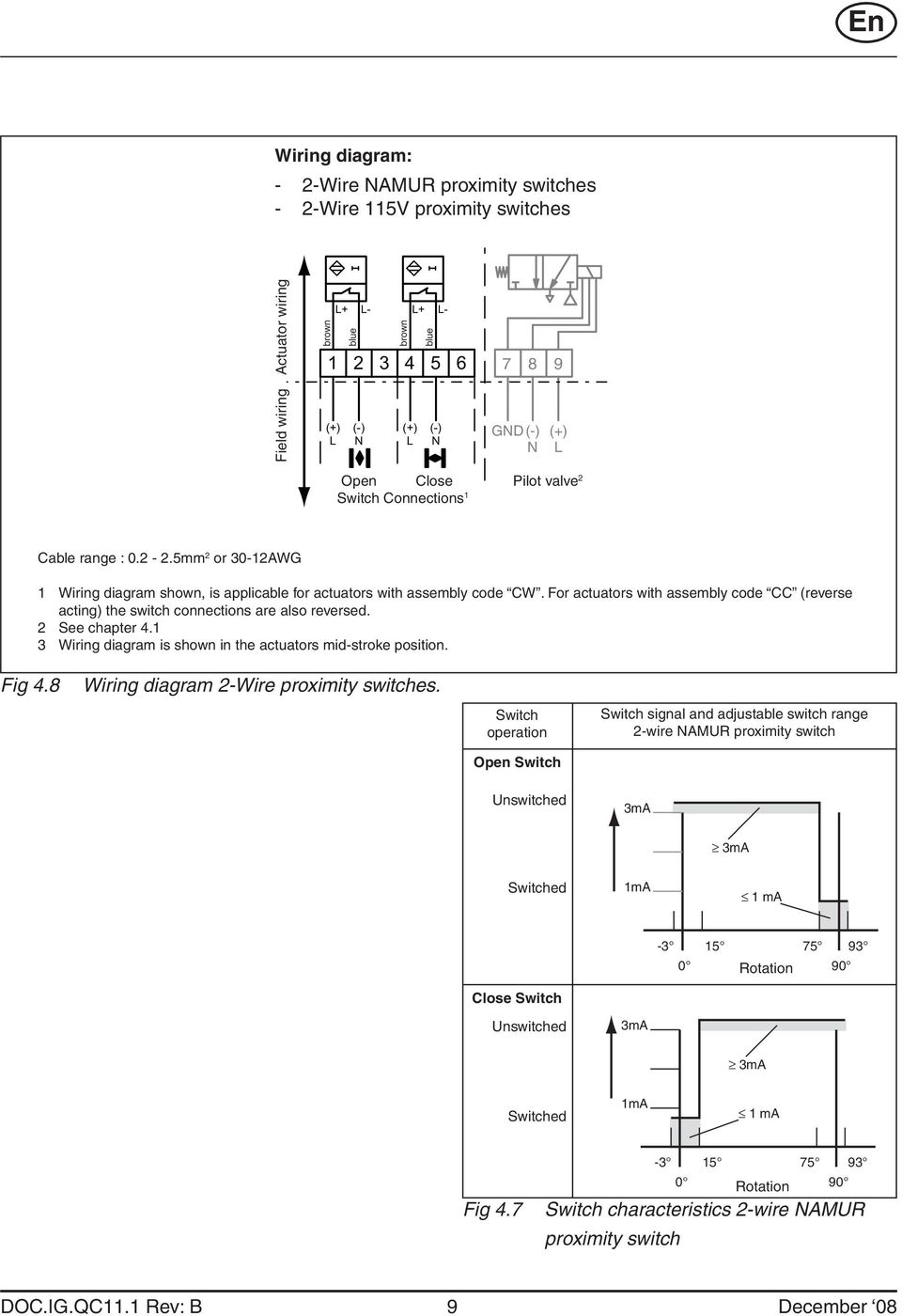 hight resolution of for actuators with assembly code cc reverse acting the switch connections are also reversed