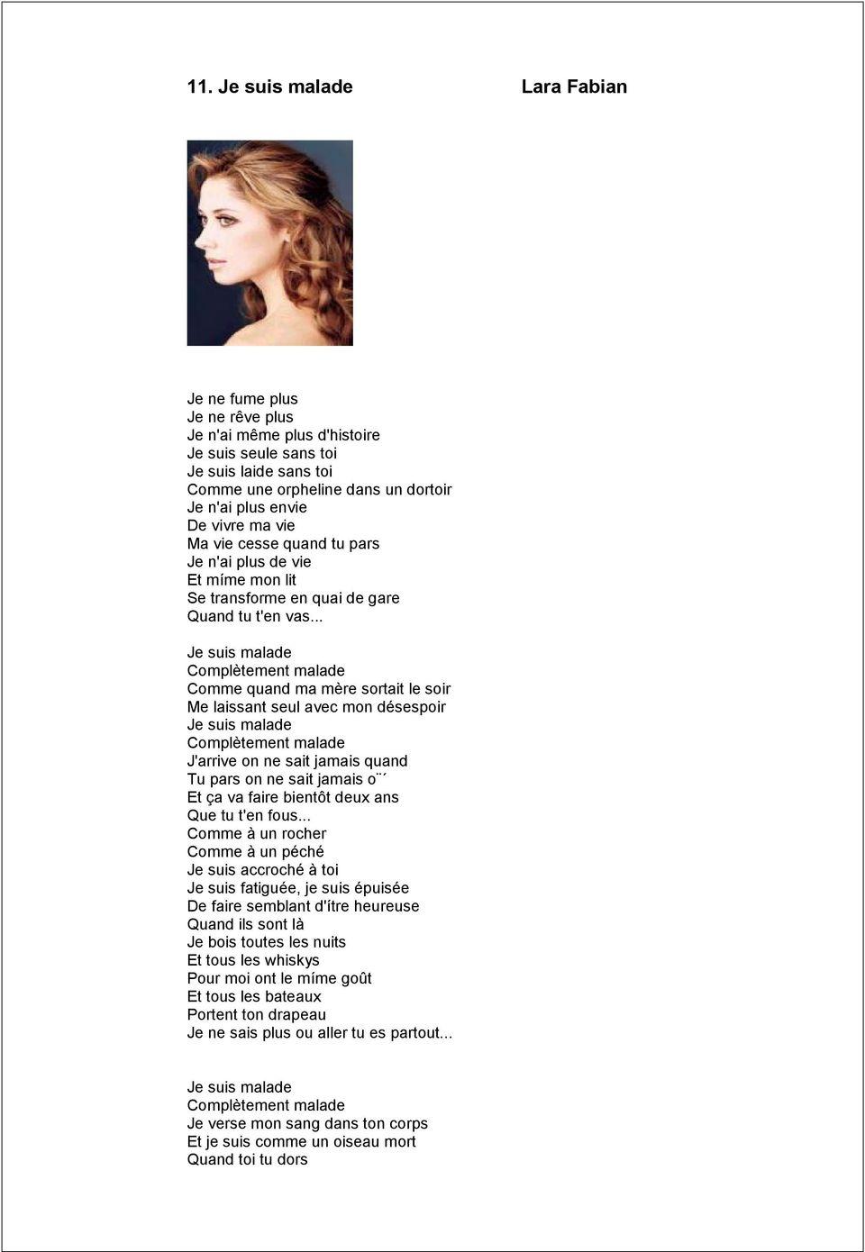 Paroles De Je Suis Malade : paroles, malade, Malade,, Complètement, Malade, Comme, Quand, Mère, Anciens, Réunions