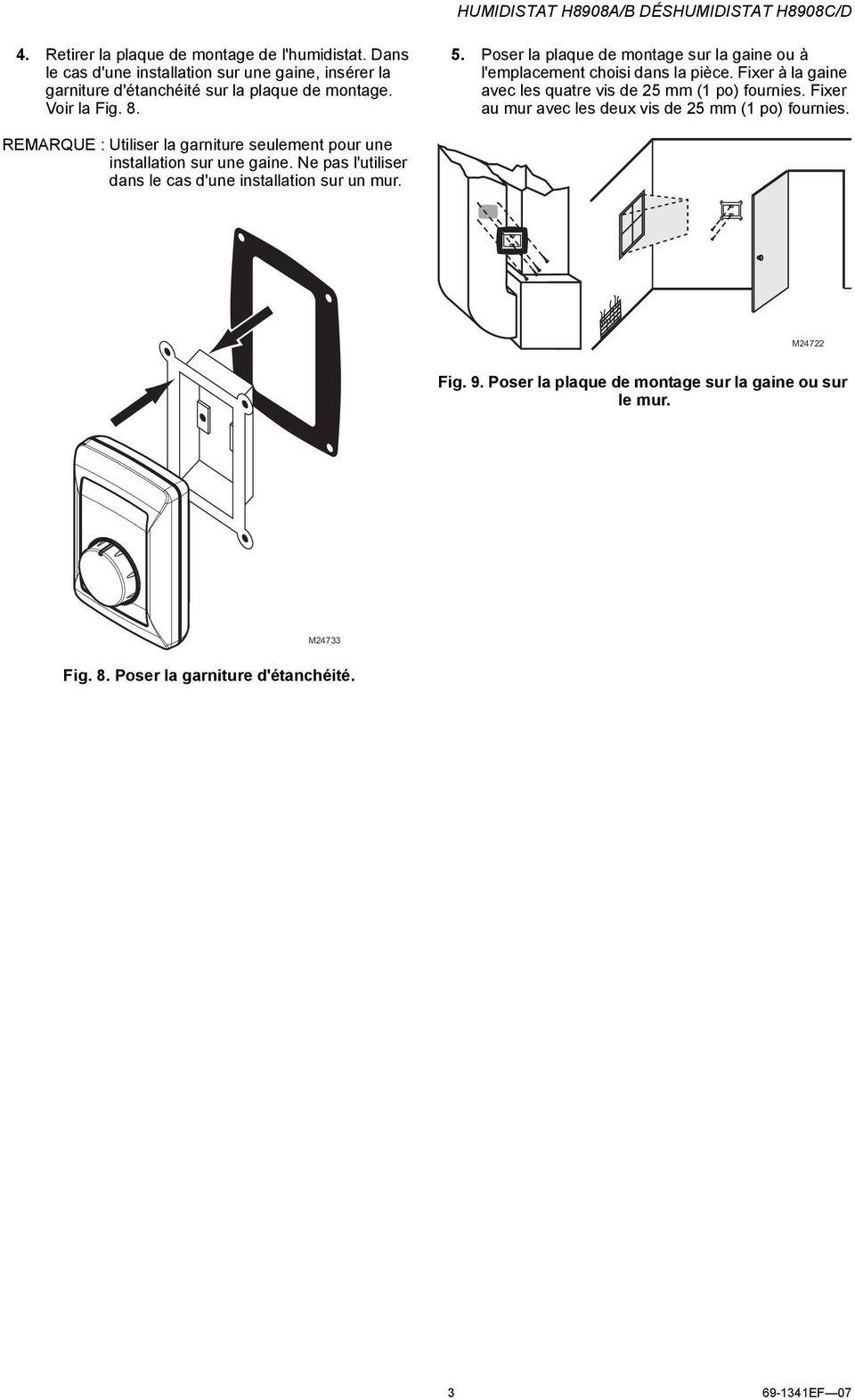 medium resolution of poser la plaque de montage sur la gaine ou l emplacement choisi dans la