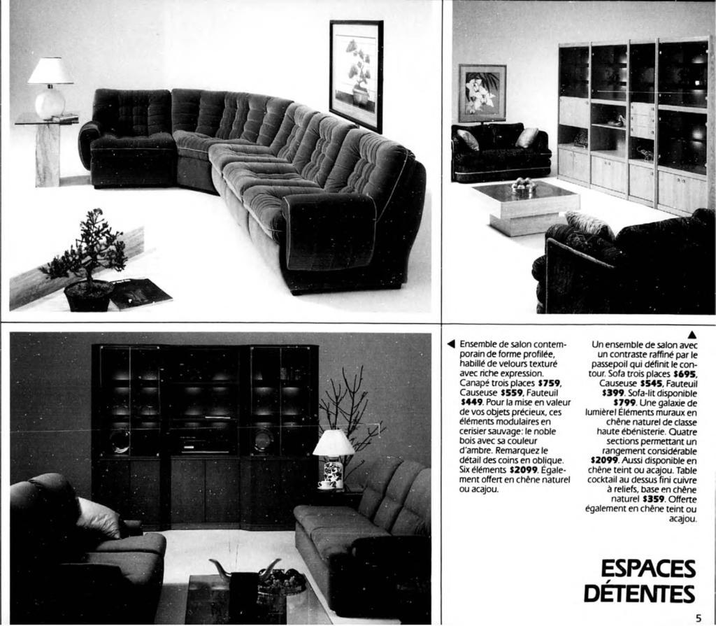 4 ensemble de salon contemporain de forme profilee habille de velours texture avec riche expression