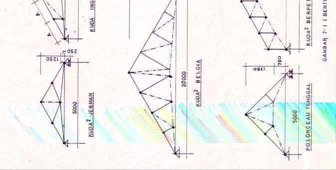 kuda baja ringan bentang 10 m konstruksi atap 12 1 menggambar denah dan rencana rangka