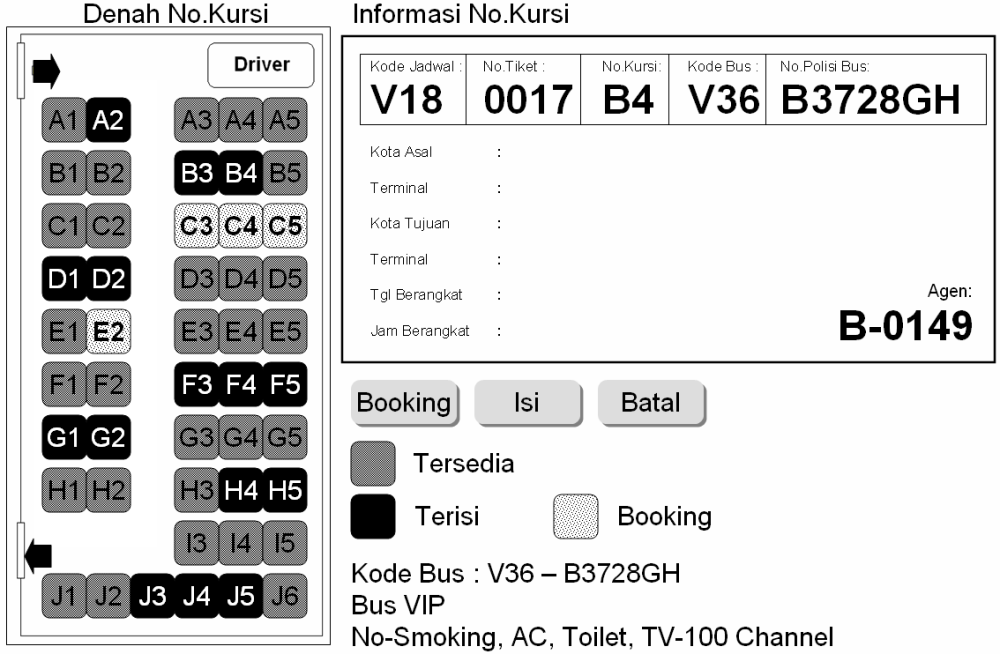 medium resolution of gambar 12 tiket bus gambar 13 reservasi dan penjualan tiket penutup dengan adanya model perancangan sistem