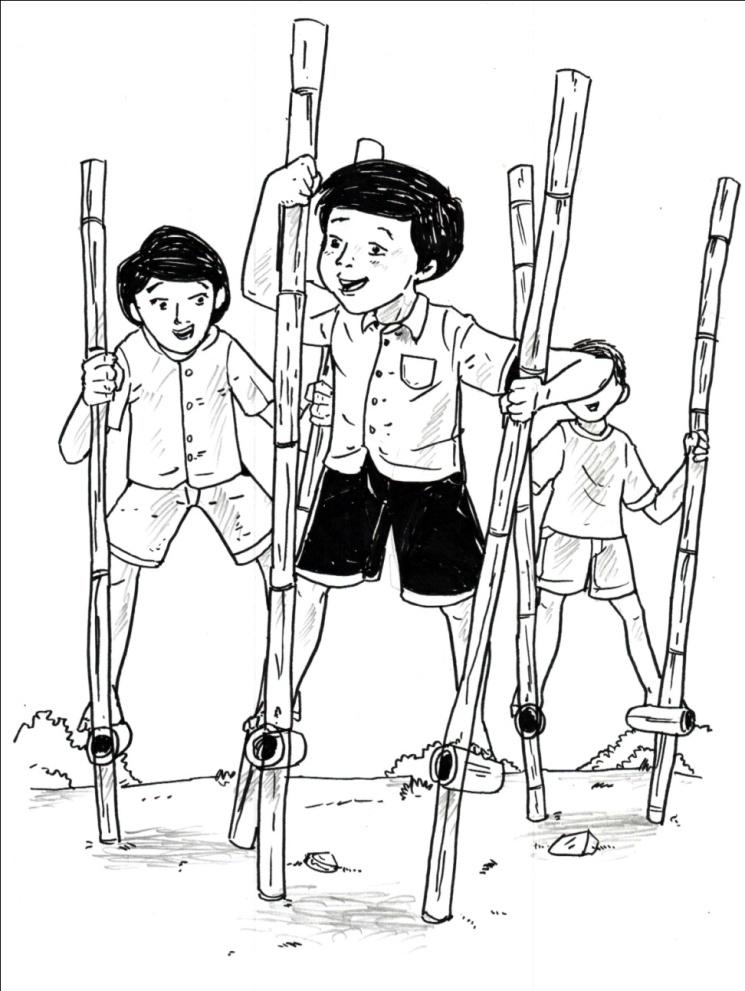 Gambar Kartun Permainan Tradisional : gambar, kartun, permainan, tradisional, Paling, Keren, Gambar, Permainan, Tradisional, Sketsa