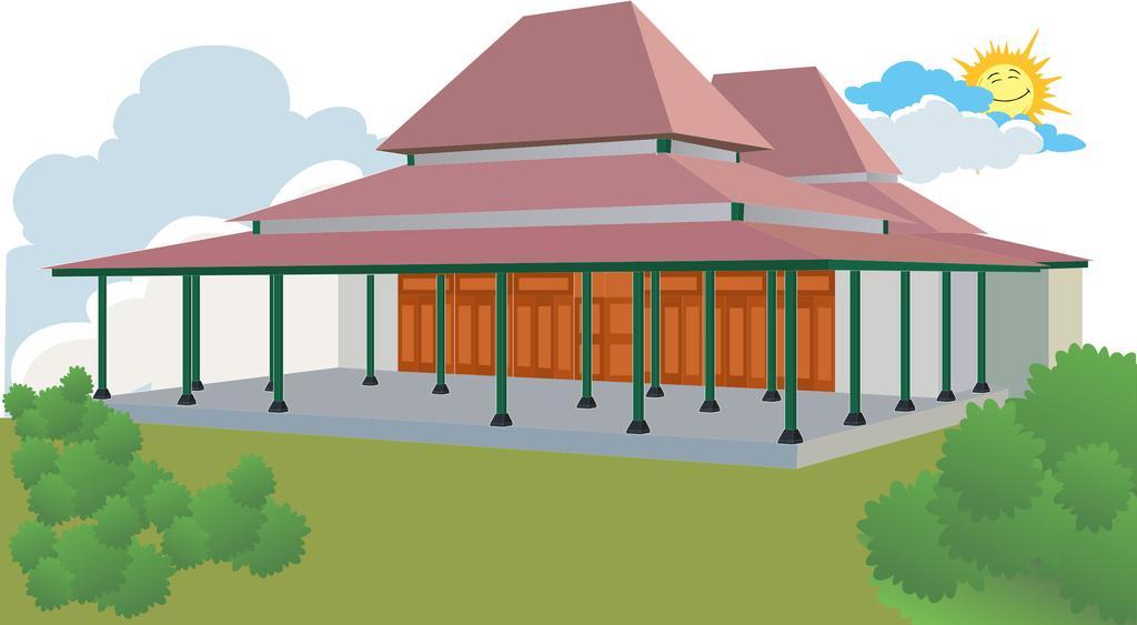 Gambar Animasi Rumah Adat Joglo Rumah Joglo Limasan Work