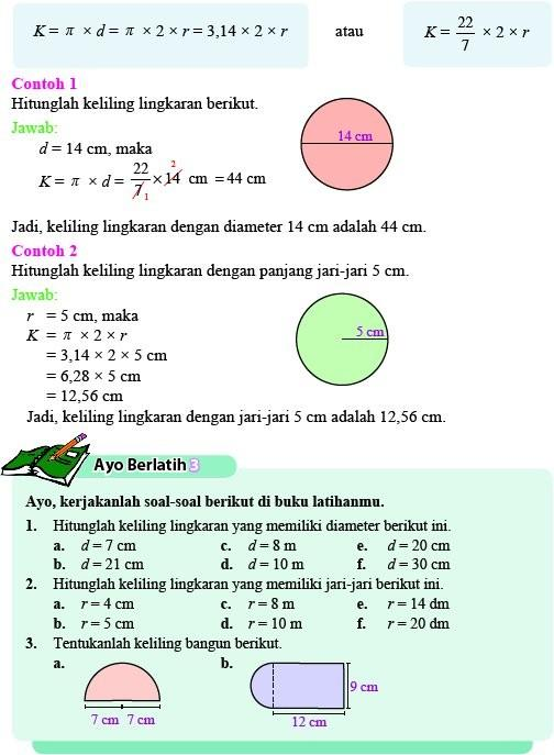 Contoh Soal Luas Lingkaran Dan Jawabannya Kelas 6 : contoh, lingkaran, jawabannya, kelas, Contoh, Lingkaran, Kelas, Berbagi