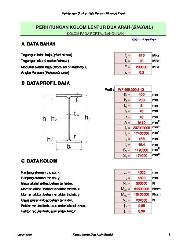 PDF Analisis Dan Desain Konstruksi Baja Metode Lrfd/Dfbk (Load