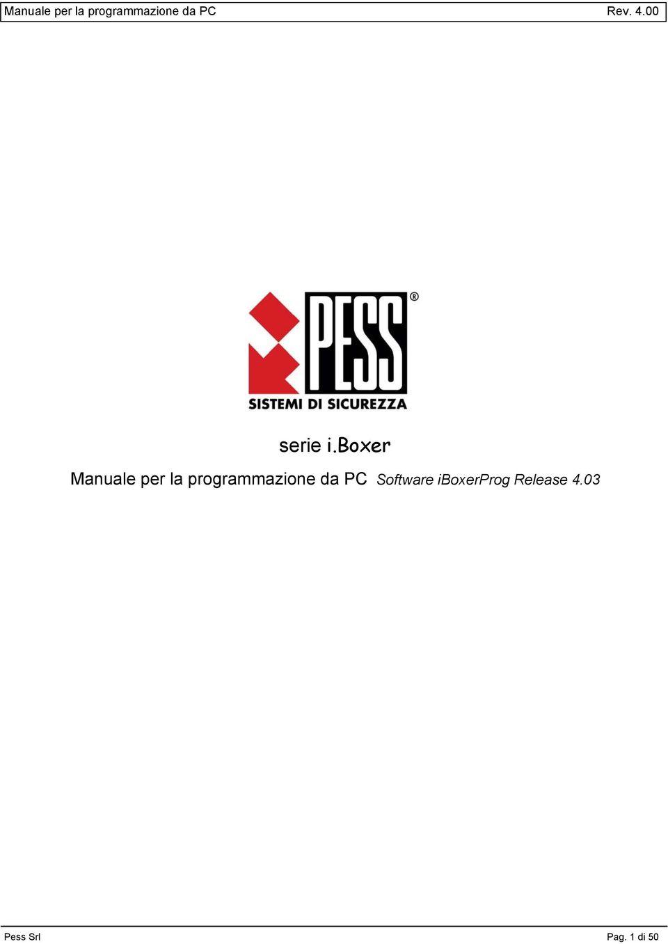 Manuale per la programmazione da PC Rev serie i.boxer