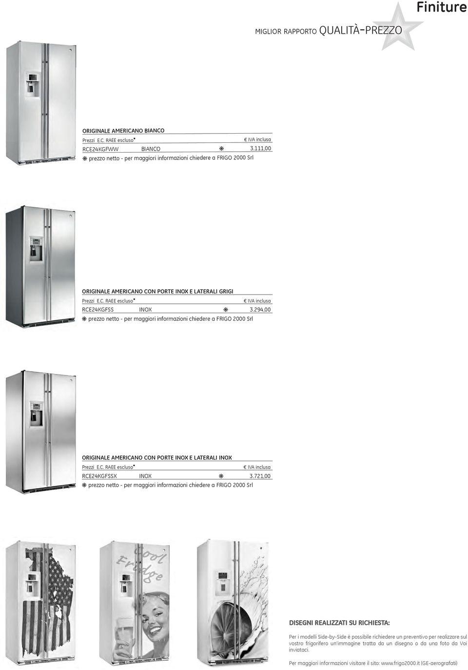 Listino prezzi frigoriferi General Electric Settembre PDF