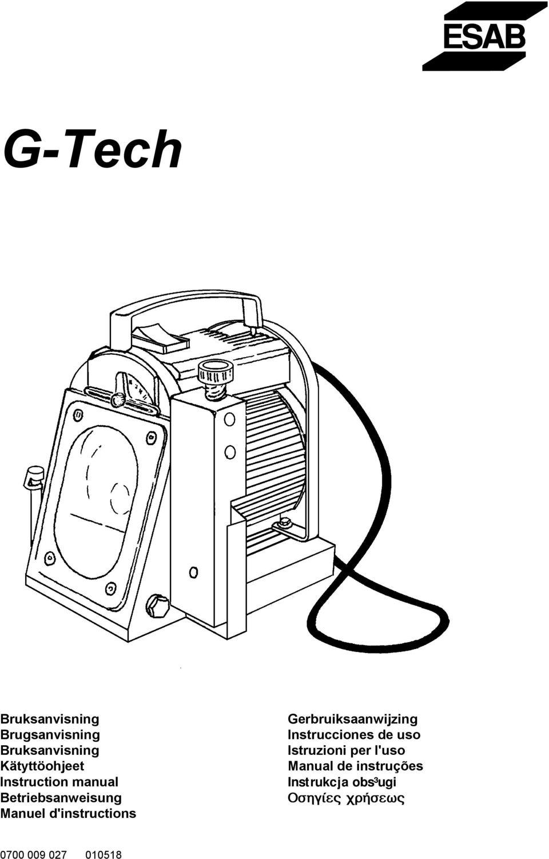 G-Tech. Instruction manual Betriebsanweisung Manuel d