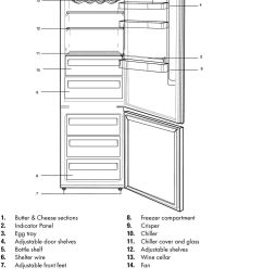 chiller cover and glass 12 adjustable shelves 13 wine cellar 14  [ 960 x 1397 Pixel ]