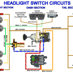 Headlight Wiring Diagram Slug Anatomy Universal Switch 6 Ford