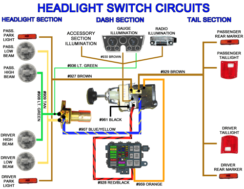 small resolution of universal headlight switch wiring diagram 6 0 ford 3 way switch diagram 5 way
