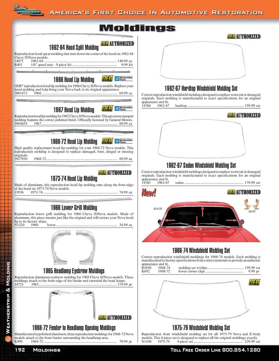 hight resolution of 69 99 ea 1967 hood lip molding reproduction hood lip molding for 1967 chevy ii