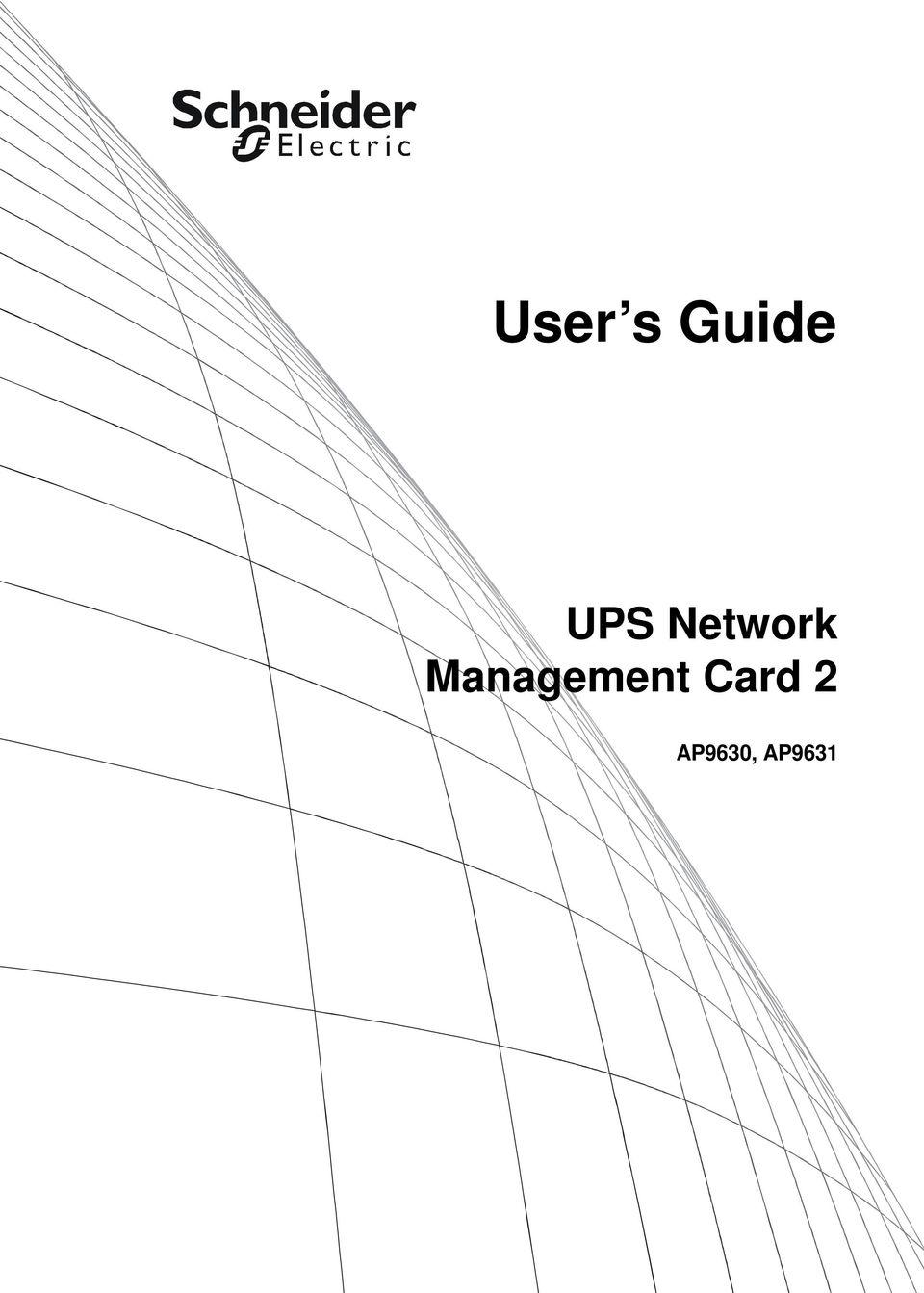 User s Guide. UPS Network Management Card 2 AP9630, AP PDF