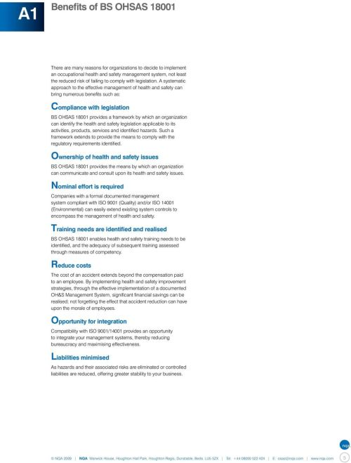 small resolution of OHSAS Guide to implementing a Health \u0026 Safety Management System - PDF Free  Download