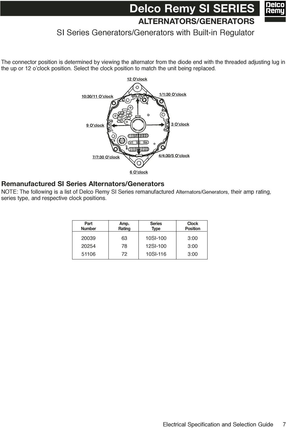 hight resolution of  delco electrical specifications selection guide pdf on delco remy starter diagram delco starter wiring