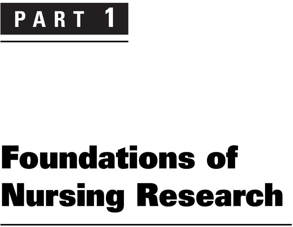 Nursing Research. Resource Manual for GENERATING AND