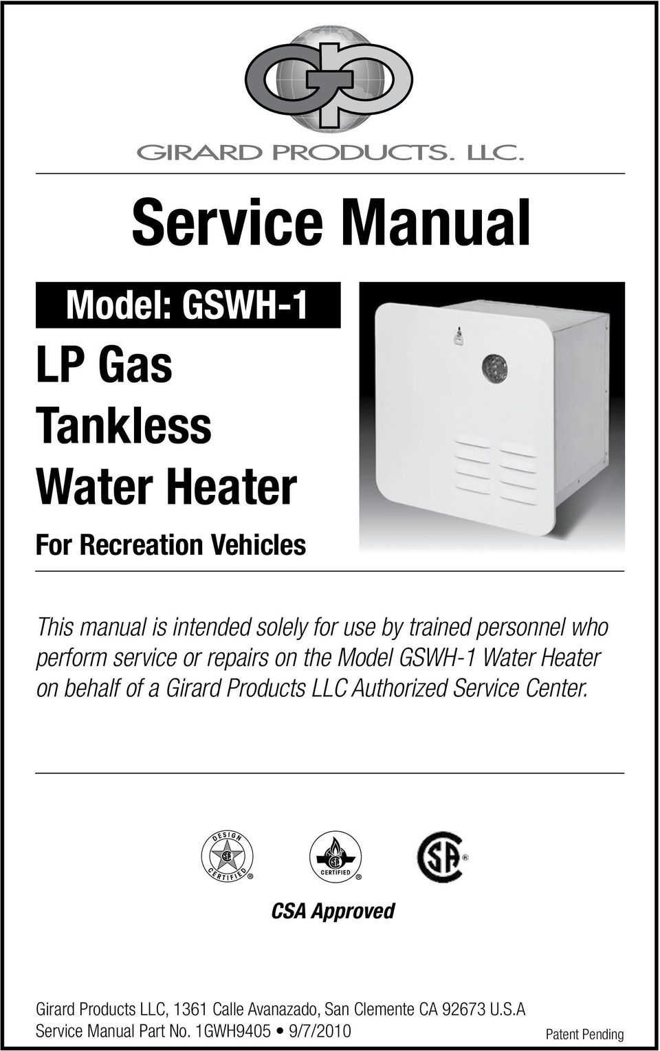 hight resolution of heater on behalf of a girard products llc authorized service center