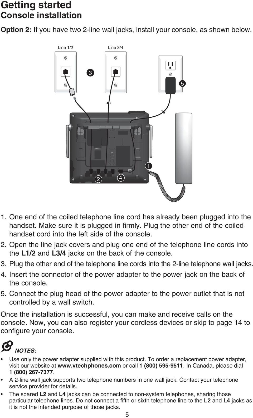 hight resolution of open the line jack covers and plug one end of the telephone line cords into the