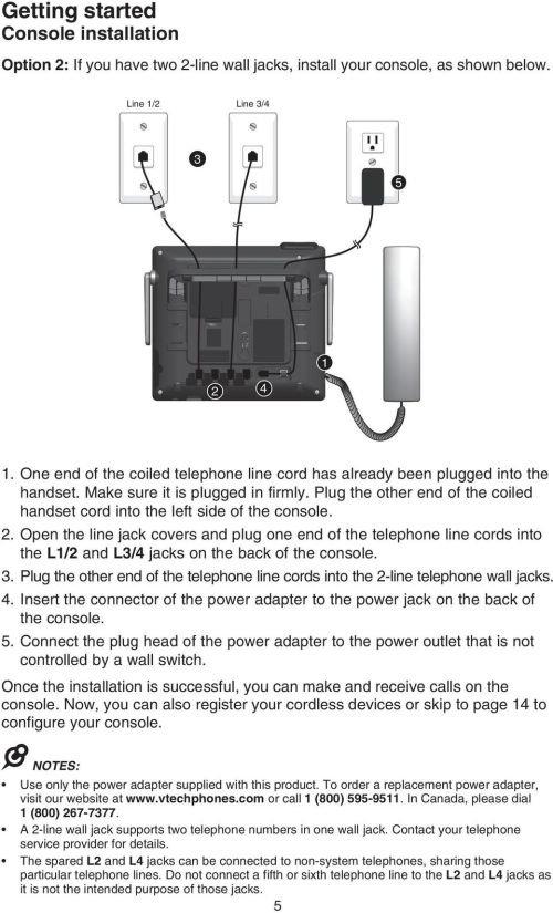 small resolution of open the line jack covers and plug one end of the telephone line cords into the