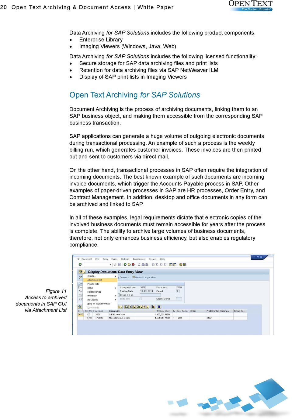 Open Text Archiving And Document Access For SAP Solutions PDF