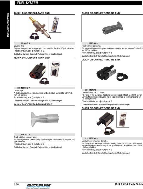 small resolution of for mercury mariner utilizing twist lock type connector except mercury 3 9 thru 9 8 hp