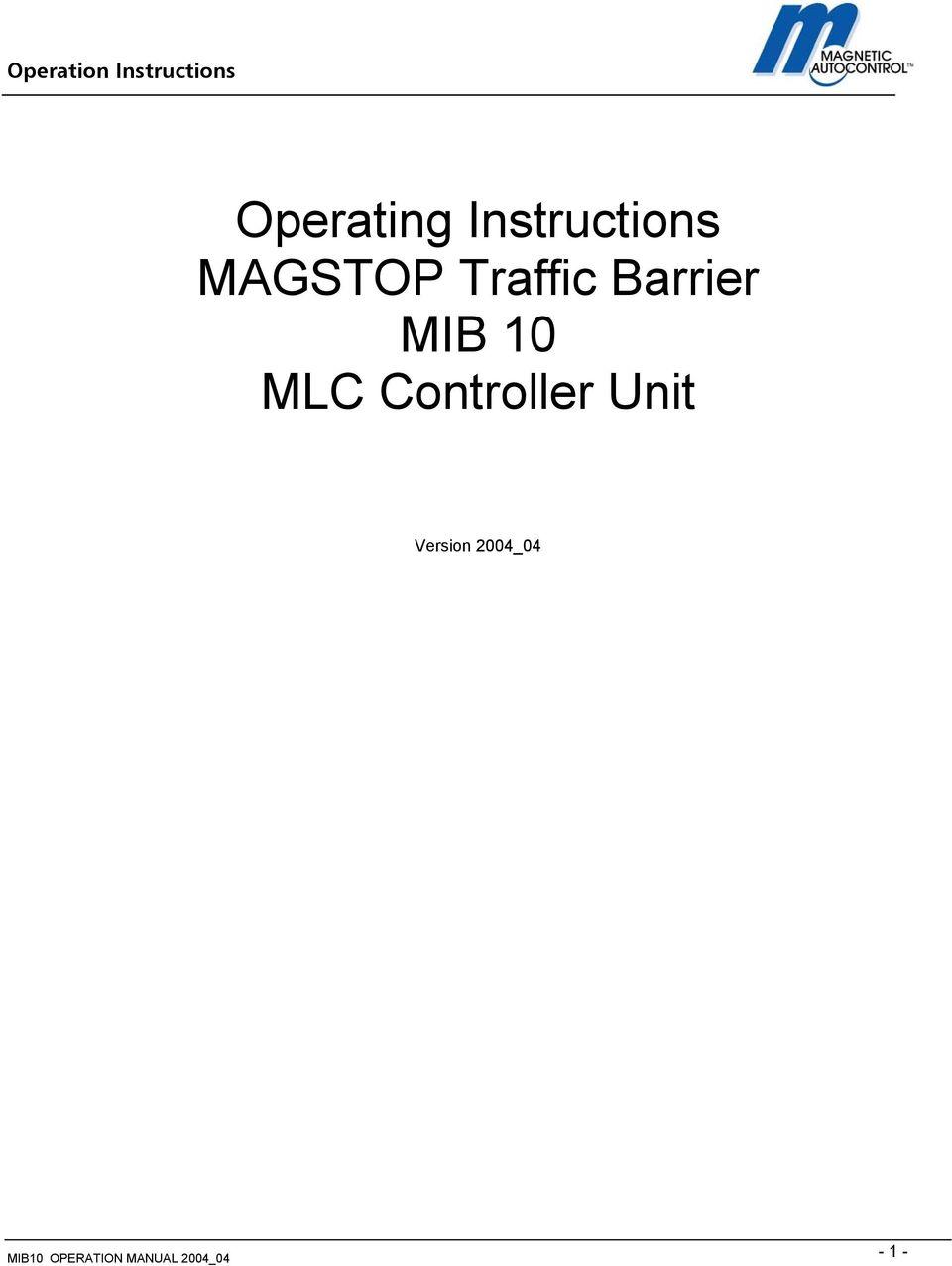 hight resolution of mib 10 mlc controller