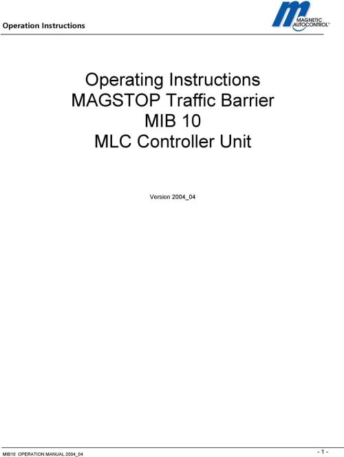 small resolution of mib 10 mlc controller