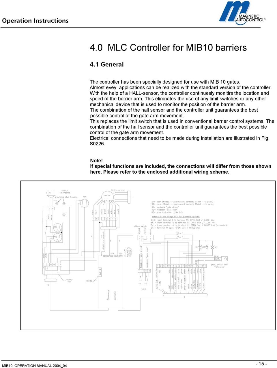 hight resolution of this elimnates the use of any limit switches or any other mechanical device that is used