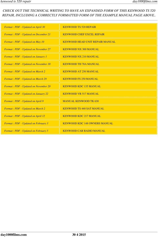 medium resolution of november 20 updated on january 22 kenwood ts 520 repair kenwood chef excel repair kenwood